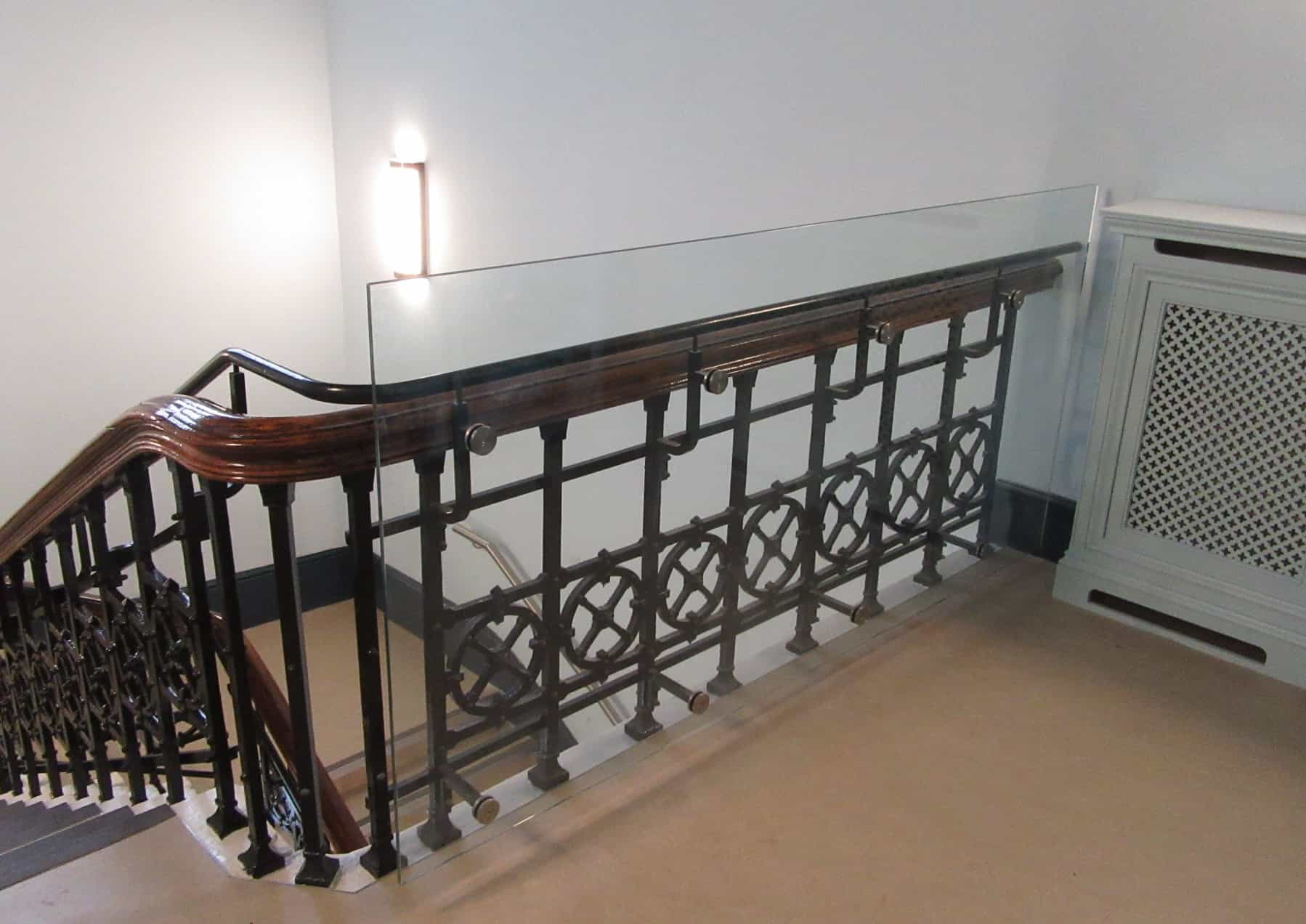 Hastings Library Custom Glazed Bolted Balustrade