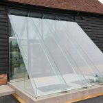 Structural Glass Lobby With Secure Glass Door