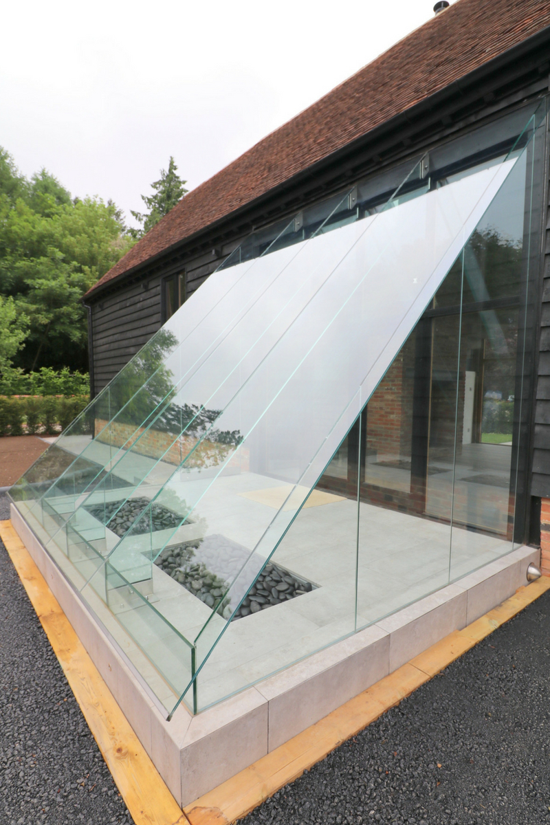 Structural Glass Lobby to barn conversion