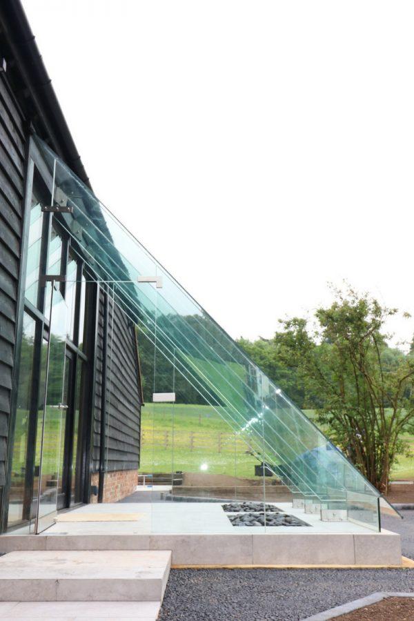 Frameless Glass Porch to Barn Conversion