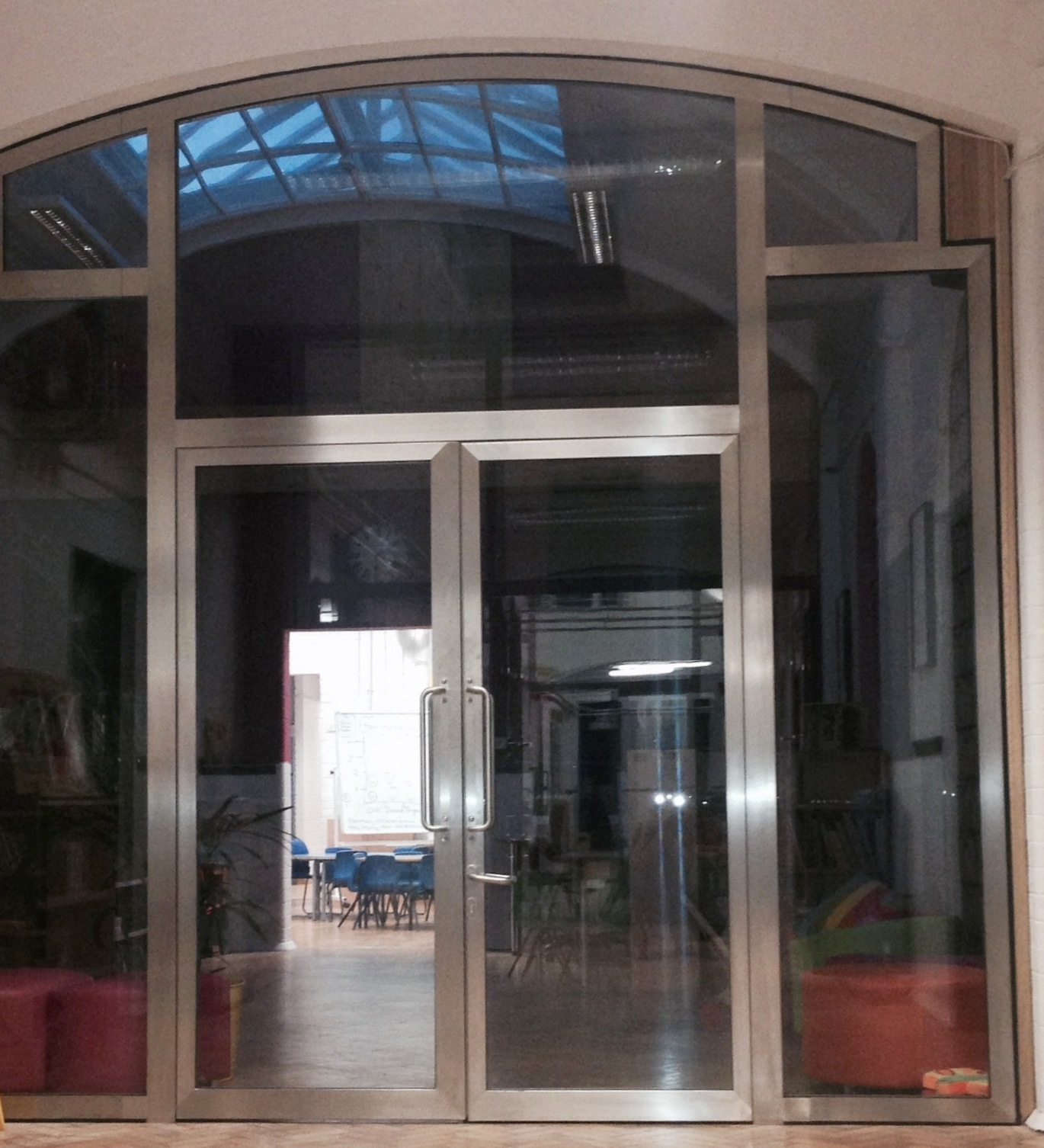 Fire Rated Glass Double Doors and Structural Glass Screen