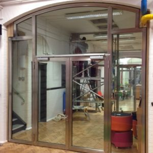 Fire Rated Glass Screen and Bespoke Glass Doors