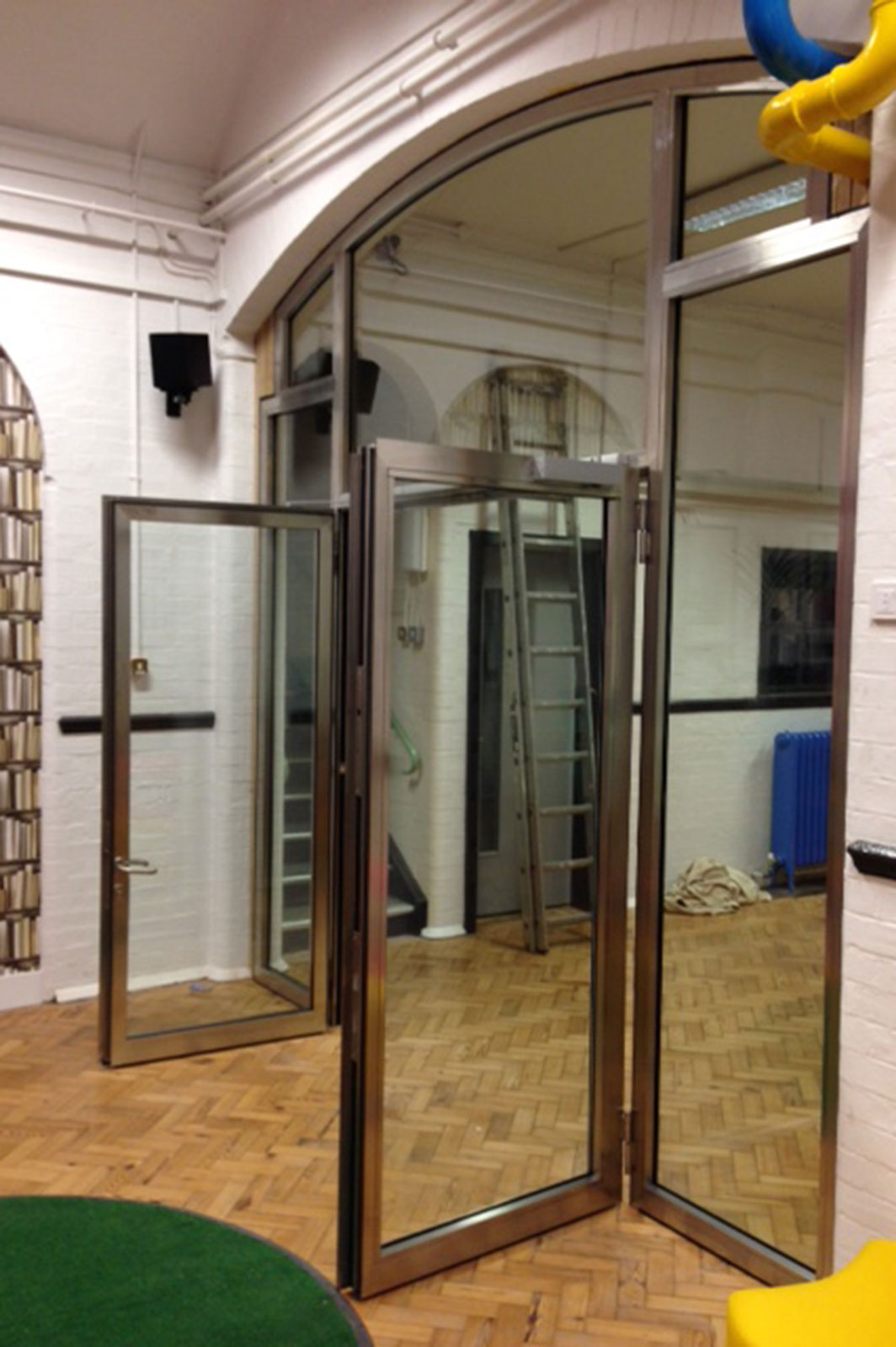 Fire Rated Glass Double Doors at Hounslow Heath