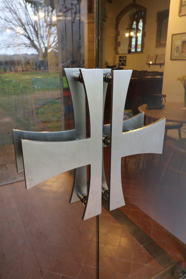 Bespoke door handles St Mary's