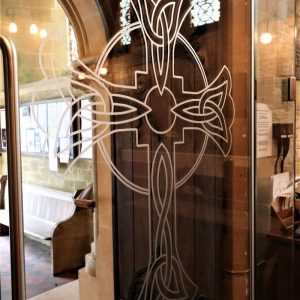 Custom glass manifestation to St Marys Kippington church