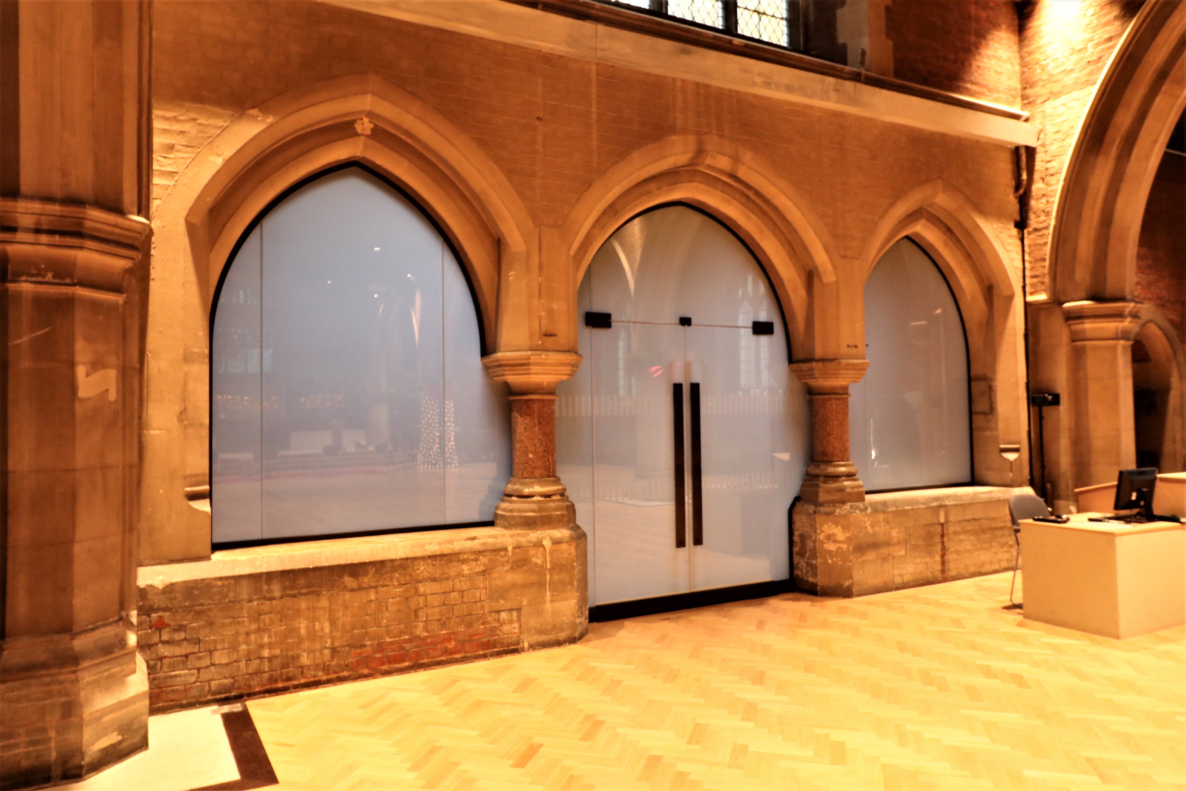 St Dionis Narthex Glass Obscured