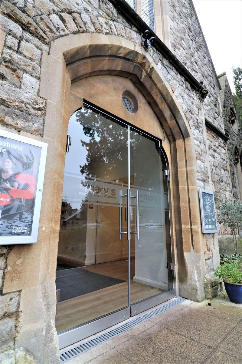 External double secure glass doors St Mary Church
