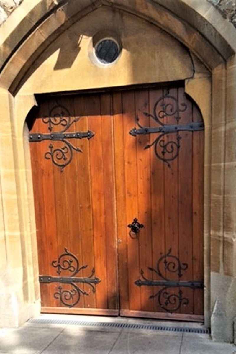 Wooden door pre glass installation