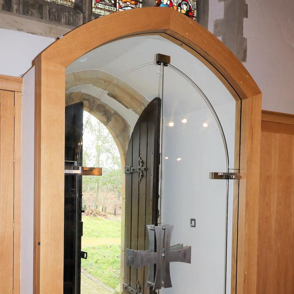st marys balcombe bespoke glass doors